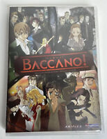 Baccano: The Complete Series DVD 2010 3 Disc Set. NEW Sealed. No Slip Cover.