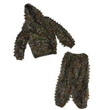 Ghillie Suit 3D Leaf Camo Woodland Camouflage Mesh Forest Hunting Snipers