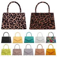 Ladies Faux Leather Clutch Bag Women's Messenger Evening Party Shoulder Bags