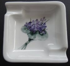 VINTAGE GERMANY ROSENTHAL LIS MULLER HAND PAINTED FLOWERS ASHTRAY RARE