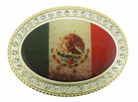 Mexico Country Flag Belt Buckle North Latin America Nation Metal Unisex Western