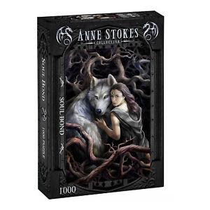 Anne Stokes - SOUL BOND - 1000 Piece Jigsaw Puzzle, Goth, Dark Fantasy, Wolves