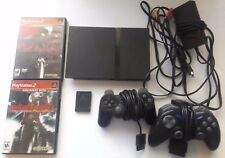 Playstation 2 Slim Scph-70012 Bundle with 2 Controllers and 2 Games and Mem Card