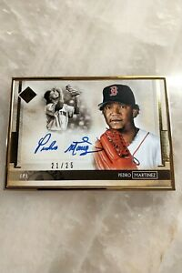 Pedro Martinez 2020 Transcendence On Card Auto Gold 21/25 Red Sox Only 95 Boxes