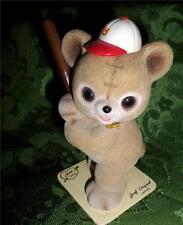 Josef Originals Fuzzy Wazzy Flocked Bear Figurine George Good Baseball Bear