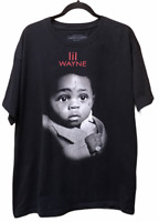 Live Nation Lil Wayne Baby Rap Hip Hop Men's Black Graphic T-Shirt Size X-Large