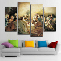 Last Supper Of Jesus Christ 4 Panel Canvas Print Wall Art Home Decor Poster