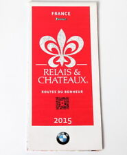 CARTE MICHELIN COLLECTOR RELAIS ET CHATEAUX FRANCE 2015 BMW