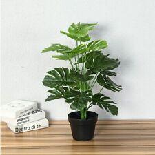 Tree Plants Artificial Real Touch Monstera  Home Garden Decor No Pot Plants Fake
