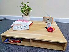 Solid Oak New Pallet Table Large Low Rustic Shabby Chic 100% Solid Wood TV Stand
