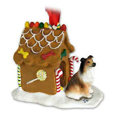 Collie Ginger Bread House Ornament