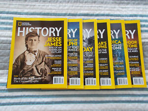 NATIONAL GEOGRAPHIC HISTORY MAGAZINE 2019 (6 ISSUES)