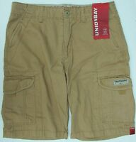 Men's UnionBay Cargo Shorts Pants Casual Cotton Grey Beach W32 34 36 38 40 BNWT