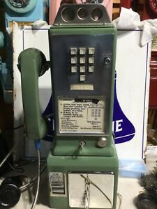 1234 G Western Electric Payphone Old Phone Bell System 3 Slot