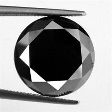 6.55Ct Amazing Quality Round Shape Black Moissanite Diamond Gemstone  AX1804