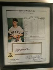 Hoyt Wilhelm Certified/Notorized Autograph with Stats----Baseball Hall of Fame