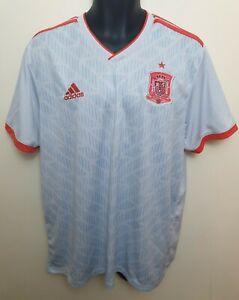 Adidas 2018 Spain Football Shirt Away Climalite Soccer Jersey España Camisa XL