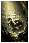 Predator Hunter Alien of Human Skulls Sci-Fi Skull Shrine Dark Horse Comics Art