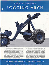 VINTAGE AD SHEET #2944 - VICKERS ONIONS LOGGING ARCH