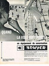 PUBLICITE ADVERTISING 014   1964    BOUYER   équipement de Sonororisation