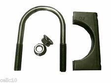 """1 Set of 2"""" Stainless U-Bolt, Saddle, Flanged Nuts - Two Inch Antenna Mounting"""