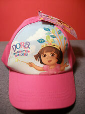 Dora Pink Baseball Cap Imagination Explorer NEW With Tags Size Girls
