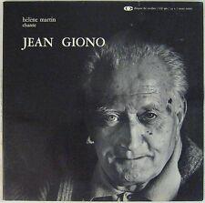 Jean Giono 33 tours Hélène Martin