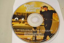 What Women Want (DVD, 2001, Widescreen)Disc Only Free Shipping