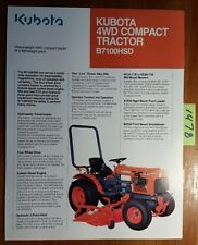 Kubota B7100hsd 4wd Compact Tractor Brochure 4003 01 Ca 493