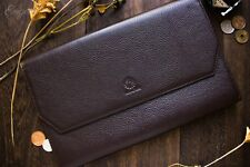 Wancher Japan Genuine Leather High Quality Fountain Pen Case 13 Pens Brown New