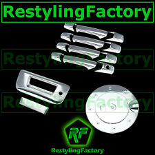 07-13 GMC Sierra Chrome 4 Door Handle+Tailgate With Keyhole W/O Camera+Gas Cover