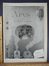 Rare Original VTG 1923 Arys Parfums De Luxe L'Illustration Advertising Art Print