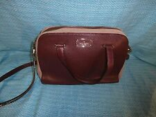Kate Spade Kay Street Small Felix two tone Mulled Wine and pale rose NEW pebble