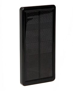 Solar Power Bank External Mobile Phone Fast Battery Charger pack panel, Black.