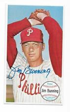 JIM BUNNING 1964 TOPPS GIANT AUTOGRAPHED SIGNED # 10 PHILLIES HOF DECEASED