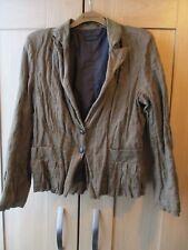Mesdames IKKS Deep Khaki Jacket With Metallic Boutons Taille 42