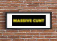 PETESTREET Signed Limited Edition Print banksy faile obey brainwash MASSIVE C@NT