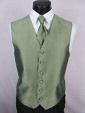Mens Vintage Formal Vest Sage Green Size Medium Matching Windsor Tie Included