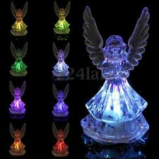 Changing Color Statue Angel Wings Garden Stake Outdoor Lamp Yard LED Light Decor
