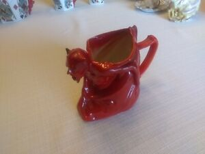 Royal Bayreuth Devil and Cards Milk Pitcher