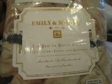 Pottery Barn Teen Emily & Meritt Bed of Roses black blush New wo tag