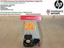 HP 750W Common Slot Gold Hot Plug Power Supply G6/G7 512327-B21 / 511778-001
