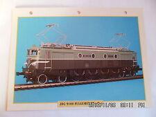 "CARTE FICHE TRAIN 2D2 9100 FULGUREX EN ""0"""