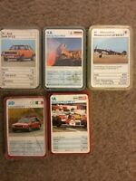 Top Trumps Vintage Cards x 5.Cars,Truck,Fighter Ww2 ,race See Photo, Odd Missing