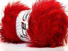 LG 100 gram Red Eyelash Yarn Ice Fun Fur 164 Yards 22716