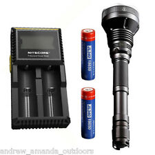 JETBeam WL-S4 Flashlight 2600Lm MT-G2 w/2x Jetbeam Batteries & D2 Charger