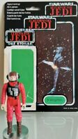 Vintage Star Wars B-Wing Pilot Figure L.F.L.1984 & Triple ROTJ Backing Card