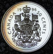 1996 CANADA 50 CENTS - HALF DOLLAR - .925 SILVER FROSTED PROOF-Nice Toning - NCC