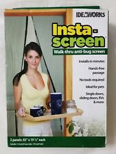 IdeaWorks Insta-Screen Walk-thru Anti-bug Screen Keep Bugs away Mesh Screen New