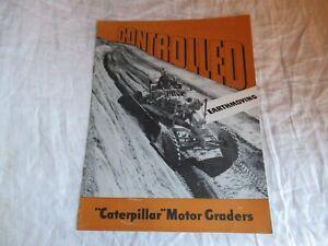 1952 CAT Caterpillar No 12 motor grader earth moving brochure